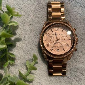 Michael Kors Blair Chronograph Rose Dial Watch